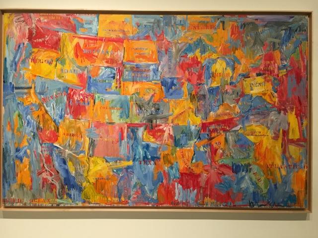 Jasper Johns map US